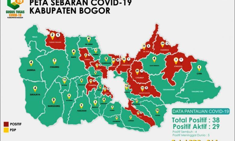 Zona Merah Corona Jadi 13 Kecamatan, PSBB Kabupaten Bogor ...