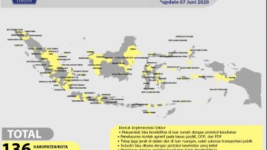 Photo of Gugus Tugas Percepatan Penanganan COVID-19 Umumkan 136 Daerah Zona Kuning