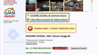 Photo of Viral Mal Taman Anggrek Dibanderol Rp17 Triliun, Ini Penjelasan Pemilik