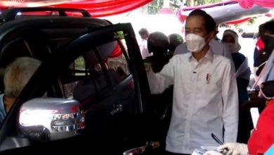 Photo of Presiden Jokowi Apresiasi  Model Vaksinasi Drive Thru Bagi Lansia dan Pengemudi Ojek Daring di Kota Bogor