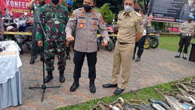 Photo of Polresta Bogor Kota Musnahkan Ratusan Knalpot Bising hasil Razia