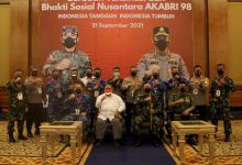 Photo of Peserta Vaksin Dapat  Sembako, Alumni Akabri 98 Nawahasta, Gelar Serbuan Vaksinasi Covid-19 Di Bogor